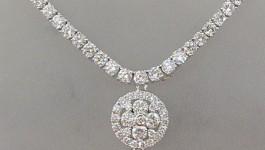 Diamond Necklace (สร้อยเพชร พร้อมจี้เพชร) Clarity (ความสะอาด) : VVS1 – VVS2 Color (สีเพชร ) : G Color (น้ำ 97) Cut Grade (เหลี่ยมเพชร) : เบลเยี่ยม (เหลี่ยมเกสร) Heart & Arrow total amount (จำนวนเพชร) […]