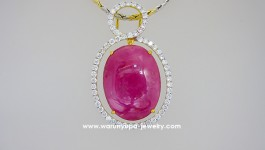 จี้ทับทิมพม่าล้อมเพชร Ruby : ทับทิมพม่าแท้ สีชมพูสดเข้ม สวยสดใส น้ำหนัก 17.18 ct ใส่แล้วดูเต็มเนินอกมากเลยค่ะ *** มีใบรับประกันทับทิมแท้ด้วยนะคะ *** Diamond (เพชร) Clarity (ความสะอาด) : VVS Color (สีเพชร) : G Color (น้ำ 97) Cut Grade (เหลี่ยมเพชร) : […]
