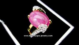 แหวนทับทิมประดับเพชรทรง Belove one Ruby ใช้ทับทิมพม่าสีชมพูหวาน กับตัวเรือนหวานๆ ไม่ดูเวอร์จนเกินไป ดีไซน์โดนๆ เด๋วมาอัพสเปคให้จ้าา