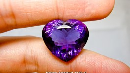 อเมทิสต์ (Amethyst Heart Shape) น้ำหนัก 22.62 ct สีม่วงเข้มสว่าง ไม่มืดจนเกินไป ราคา…