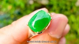 Natural Jadeite (หยกพม่า) 2.99 ct ทรงคูชั่้น ทำตัวเรือนแล้วสวยมากค่ะ ราคา xx,xxx บาท โทรสอบถามค่ะ