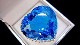 แหวน Blue Topaz ทรงหัวใจ เม็ดโต สีสวย ทรงสวย เด๋วมาอัพสเปคให้จ้า