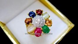ราคา 33,500 บาท แหวนนพเก้า แหวนแห่งความมงคล แท้ทุกเม็ด สดจริง สีมาครบ ความสวยก็ตามมาอย่างเคยค่ะ ดูชื่นมื่น ความสดใสเจ้าค่ะ ^___^ ประกอบไปด้วยพลอยมงคล 9 ชนิด ทับทิม ไพลิน โกเมน ไพฑูรย์ (ตาแมว) บุษราคัม มรกต มุกดาหาร เพทาย และเพชร หน้าแหวนกว้าง 18 mm รายละเอียด น้ำหนักเพชรรวม […]