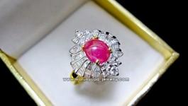 แหวนทับทิมพม่าเนื้อแก้ว สีชมพูแดง หวานๆรับลมร้อนค่ะ สำหรับแหวนทับทิมพม่า ประดับเพชรน้ำ98 จัดเต็ม แบบทั้งกลม มาคีย์ และเพชร (Baguette) แหวนหน้าตาสวยๆ หวานๆ ไม่ควรพลาดจ๊ะ อีกหนึ่งรายการ รายละเอียด จะโพสต์ในภาพต่อไปจ๊ะ รายละเอียด น้ำหนักทอง 5.3 กรัม น้ำหนักเพชร 12pcs = 0.33 ct vvs 98 น้ำหนักเพชร Baguette = […]